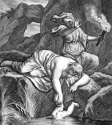 Thetis immerses Achilles in the Styx