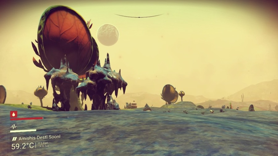 An alien vista from No Man's Sky