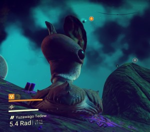 Alien life form in No Man's Sky